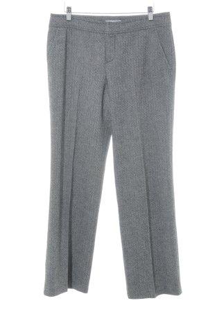 Strenesse Blue Pantalon en laine noir-blanc cassé motif abstrait