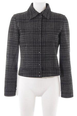 Strenesse Blue Giacca di lana nero-bianco sporco motivo a quadri stile semplice