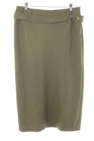 Strenesse Blue Wool Skirt brown-olive green elegant