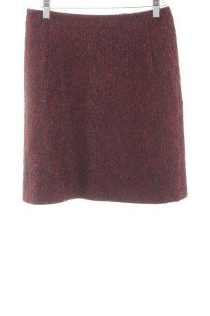 Strenesse Blue Jupe en laine rouge moucheté style décontracté