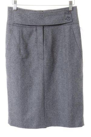 Strenesse Blue Wollrock grau-schwarz Fischgrätmuster Business-Look