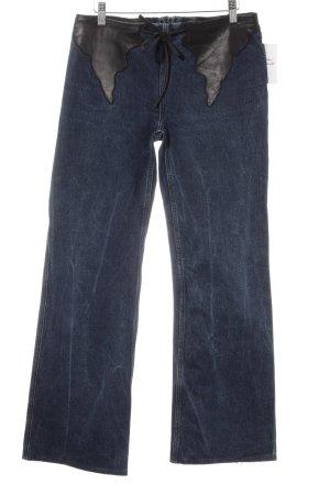 Strenesse Boot Cut Jeans dunkelblau-schwarz Reiter-Look