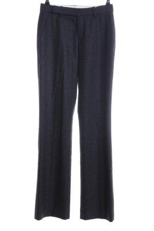 Strenesse Bandplooibroek zwart gestippeld zakelijke stijl