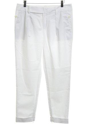Strenesse Pantalon à pinces blanc style classique