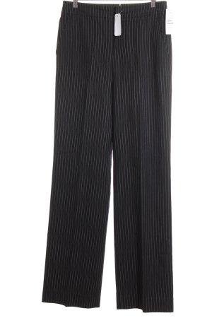 Strenesse Bundfaltenhose weiß-schwarz Nadelstreifen Business-Look