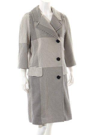 Strenesse Cabanmantel schwarz-weiß grafisches Muster Elegant