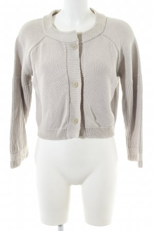 Strenesse Cardigan hellgrau Zopfmuster Casual-Look