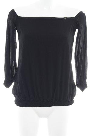 Strenesse Carmen-Bluse schwarz minimalistischer Stil