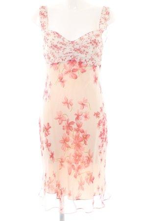 Strenesse Vestido de chifón rosa-rosa estampado floral estilo romántico