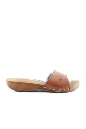 Strenesse Clog Sandals brown casual look