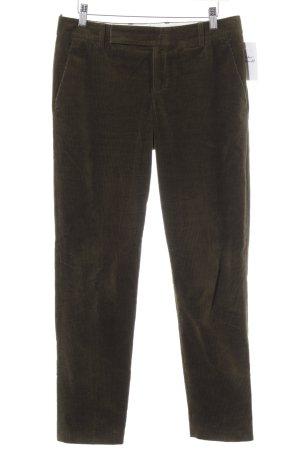 Strenesse Pantalone di velluto a coste verde scuro stile casual