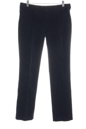 Strenesse Pantalon en velours côtelé noir style décontracté