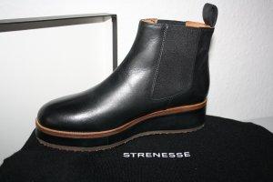 Strenesse Chelsea Boot noir-brun cuir