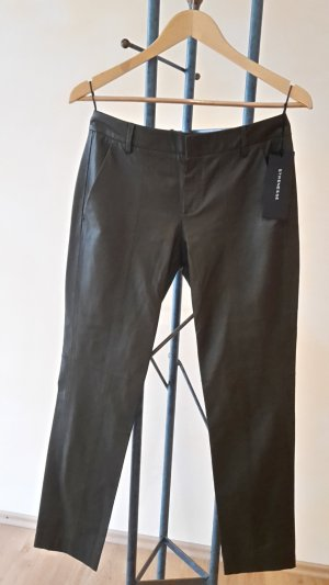 Strenesse Leather Trousers dark green leather