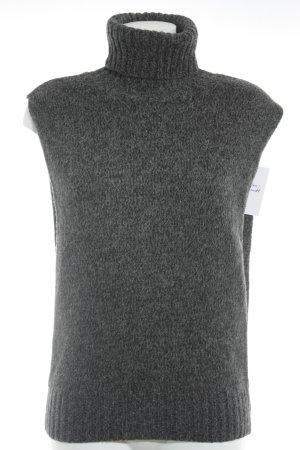 Strenesse Fijn gebreide cardigan grijs-zwart gestippeld casual uitstraling