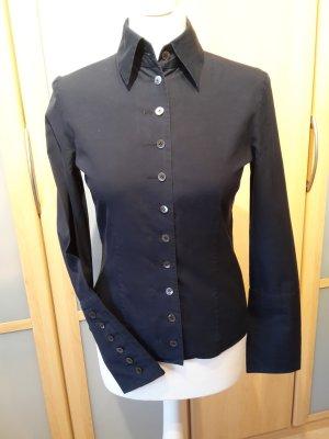 STRENESSE G. Strehle Bluse dunkelblau tolle Ärmel Gr. 34