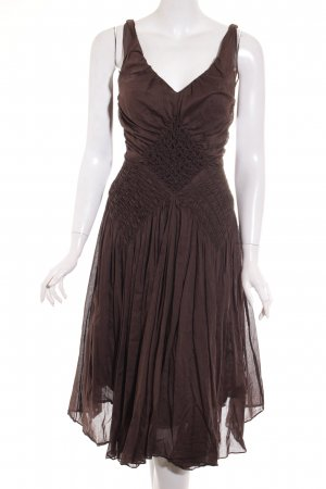 Strenesse Gabriele Strehle A-Linien Kleid dunkelbraun Boho-Look