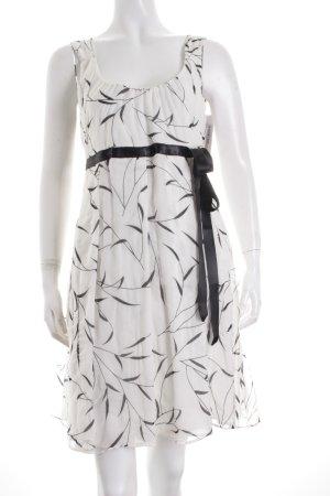 Strenesse Gabriele Strehle A-Linien Kleid weiß-schwarz florales Muster