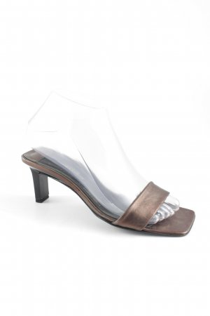 Strenesse Gabriele Strehle Absatz Pantoletten bronzefarben Metallic-Optik