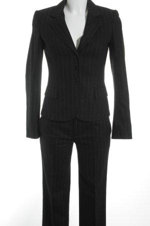 Strenesse Gabriele Strehle Business-Anzug schwarz-grau Streifenmuster