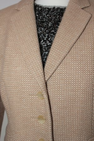 Strenesse Gabriele Strehle Wool Blazer white-sand brown