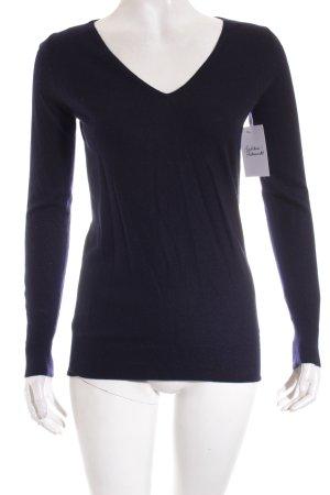 Strenesse Gabriele Strehle Cashmerepullover dunkelblau minimalistischer Stil