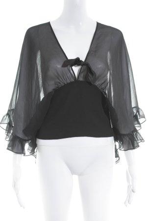 Strenesse Gabriele Strehle Kurzarm-Bluse schwarz Elegant