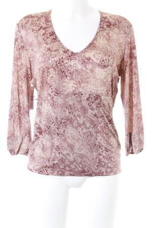 Strenesse Gabriele Strehle Langarm-Bluse creme-karminrot florales Muster