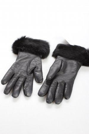 Strenesse Gabriele Strehle Gants en cuir noir élégant