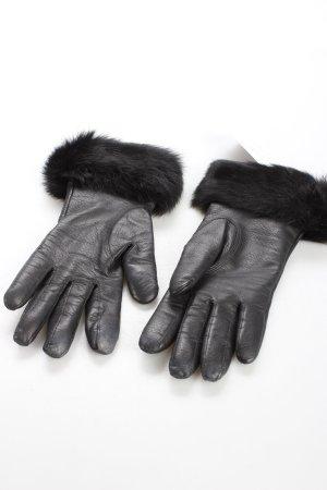 Strenesse Gabriele Strehle Lederhandschuhe schwarz Eleganz-Look
