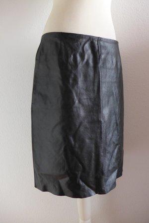 Strenesse Falda de cuero negro Cuero