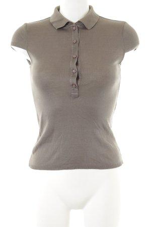 Strenesse Gabriele Strehle Camiseta tipo polo gris verdoso look casual