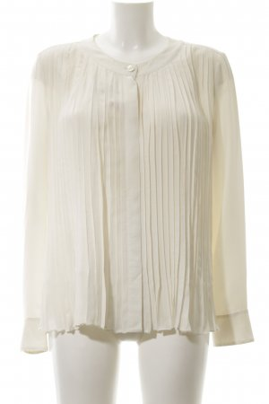 Strenesse Gabriele Strehle Silk Blouse cream-gold-colored business style