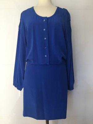 Strenesse Gabriele Strehle Seidenkleid in blau NEU