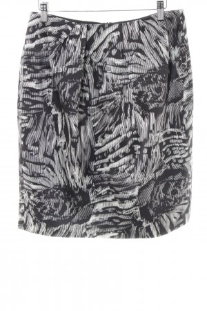 Strenesse Gabriele Strehle Silk Skirt black-white abstract pattern casual look