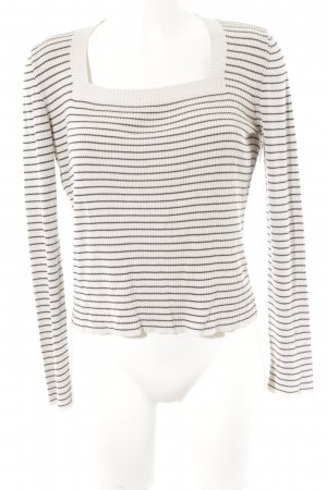 Strenesse Gabriele Strehle Knitted Sweater black-cream striped pattern