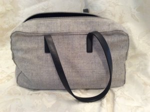 Strenesse Gabriele Strehle Tasche Stoff  mit Leder grau gebraucht Größe: 18 x 32 x 8