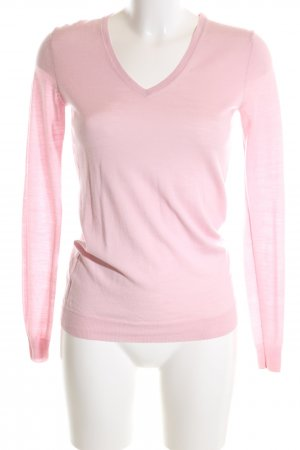Strenesse Gabriele Strehle V-Ausschnitt-Pullover pink Casual-Look