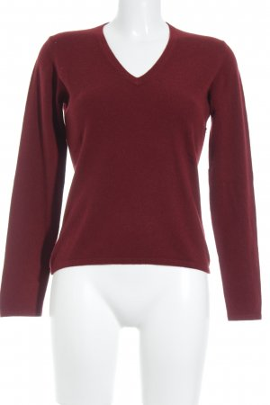Strenesse Gabriele Strehle V-Ausschnitt-Pullover karminrot Casual-Look