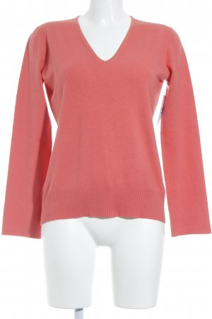 Strenesse Gabriele Strehle V-Ausschnitt-Pullover lachs Casual-Look