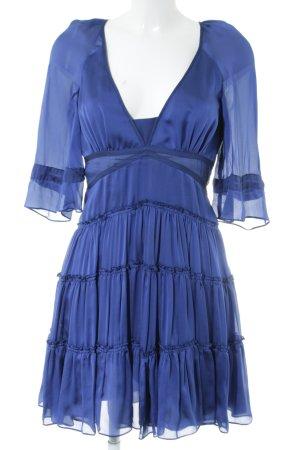 Strenesse Gabriele Strehle Vestido estilo flounce azul estilo fiesta