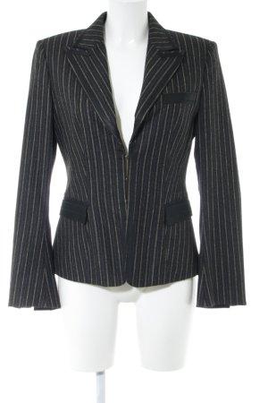 Strenesse Gabriele Strehle Blazer in lana nero motivo a righe