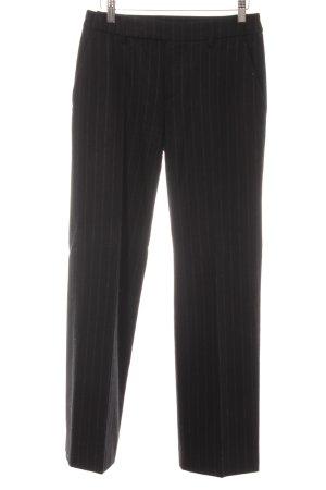 Strenesse Gabriele Strehle Wollhose schwarzbraun-schwarz Streifenmuster Elegant