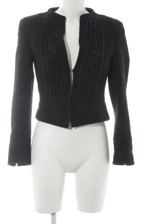 Strenesse Gabriele Strehle Wool Jacket black-forest green flecked elegant