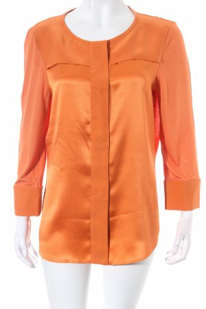 Strenesse Glanzbluse orange Schimmer-Optik
