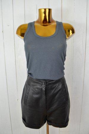 STRENESSE GROUP LINEA Damen Shorts Leder-Shorts Schwarz Leder Gr.36