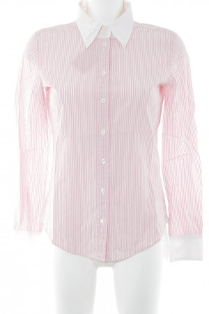 Strenesse Hemd-Bluse rosa-weiß Streifenmuster klassischer Stil