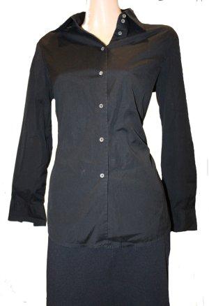 Blue Strenesse Hemdblouse zwart Katoen