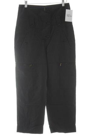 Strenesse High Waist Trousers dark blue casual look
