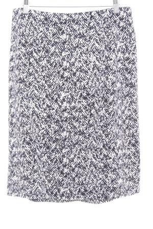 Strenesse Jupe taille haute blanc-noir motif abstrait style décontracté